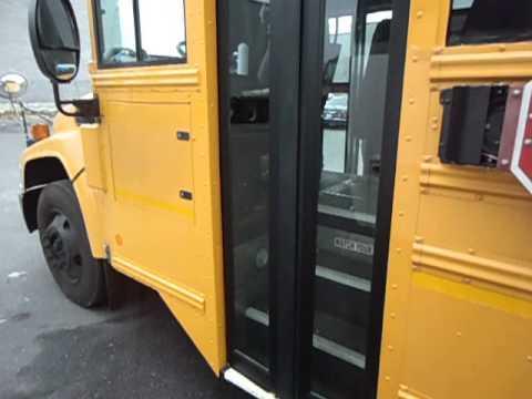 school bus left service door finished & school bus left service door finished - YouTube