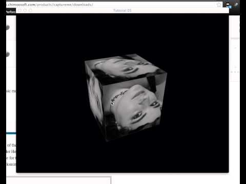 OpenGL textured cube rotation