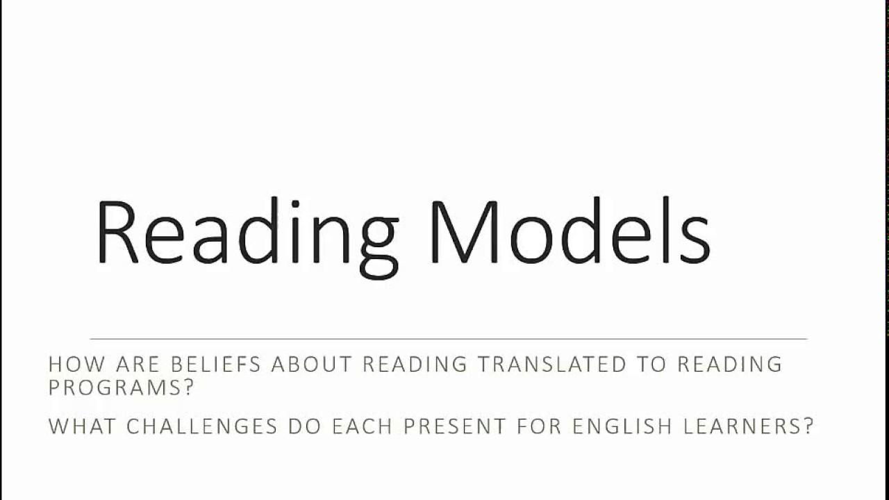 Bottom up model of reading
