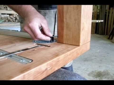 Esstisch Verlängerung Selber Bauen holztisch wotan mit ansteckplatten - youtube