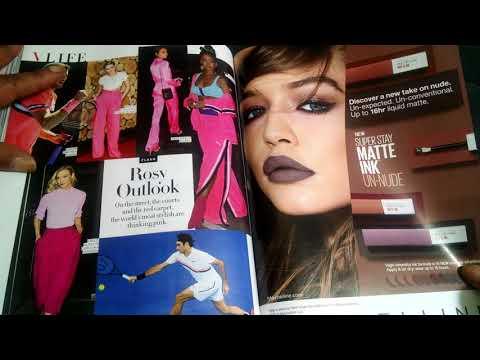 ASMR Vogue Magazine Flip & Gum chew 👓👗👡👓📒