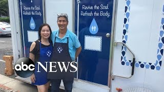 Meet the couple who created mobile showers for the homeless community | GMA Digital