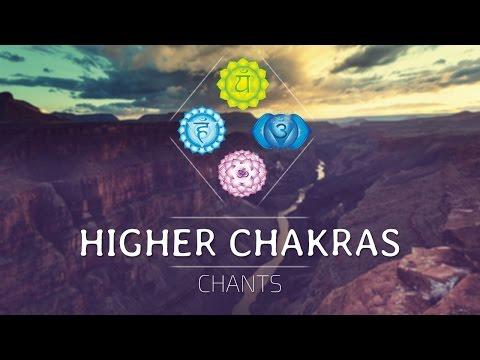 HIGHER CHAKRAS SEED MANTRA CHANTS ⟐ Heart, Throat, Third Eye, Crown Chakra Healing Meditation Music
