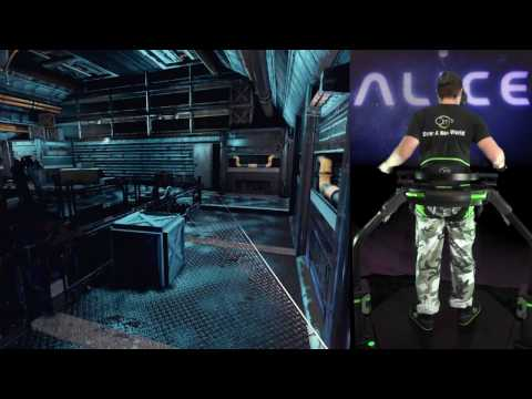 Alice VR with the Virtuix Omni |