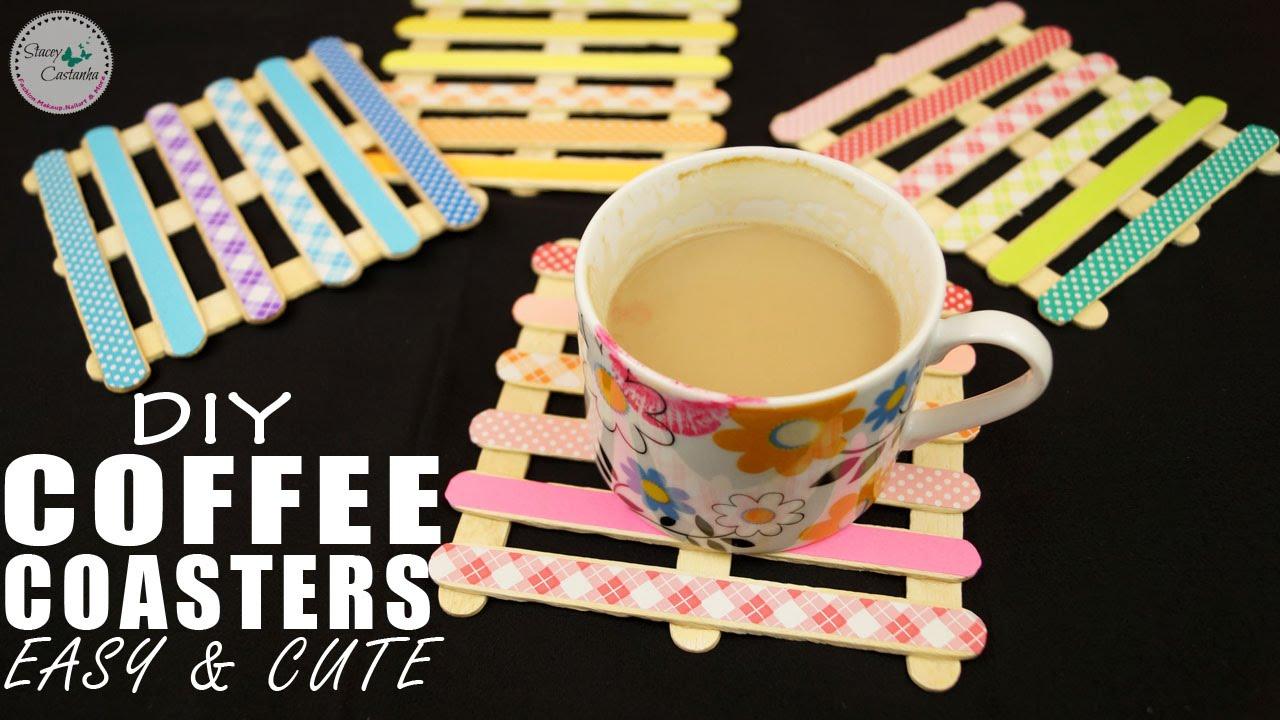 Diy Coffee Coasters Easy Cute Diy Home Decor Youtube