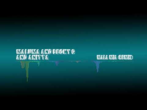 Maluma and Becky G and Anitta - Mala Mia Remix (Audio Spectrum)