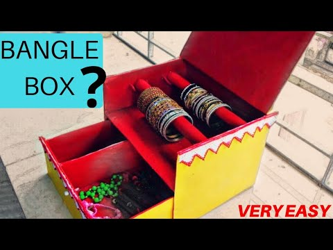 How to Make Bangle Box From Waste Material   Easy Diy