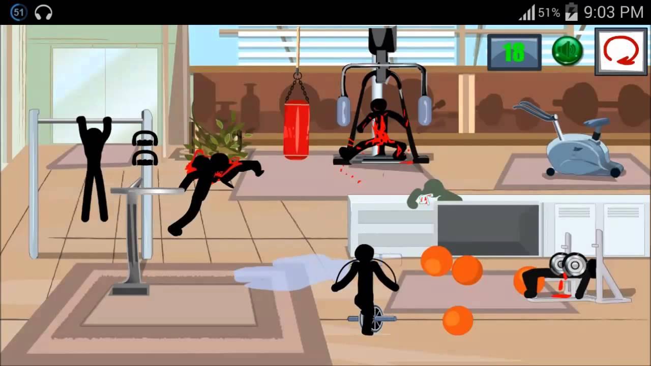 Stickman Death Gym 2 Level 3