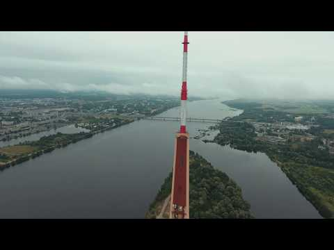 Riga TV Tower in cloudy day | DJI Phantom 4