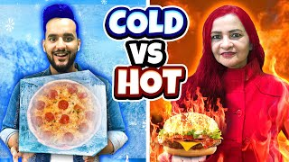 Extreme HOT vs Freezing COLD Food Challenge 🔥🔥!!