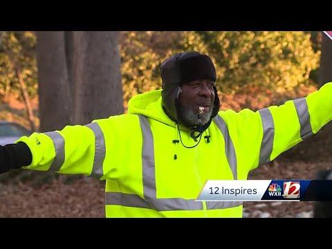 'He's like a superhero!' Triad elementary school donates car, money to crossing guard