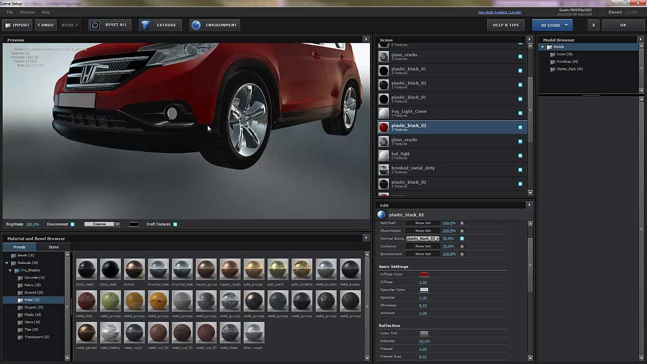 Free 3d car for video copilot element 3d jetstrike Create 3d model online free