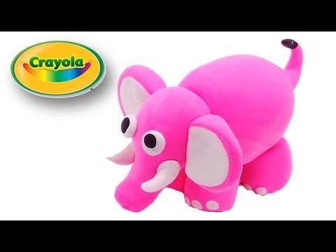 clay modeling crayola cartoon pink elephant youtube