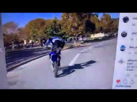 Oakland Motorbike Rider Pops Wheelies At Lake Merritt In Instagram Video
