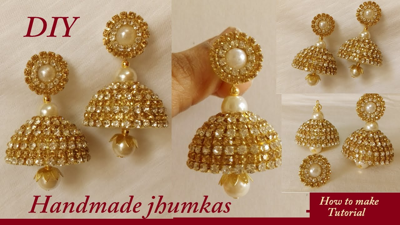 Diy How To Make Silk Thread Bridal Jhumka Earrings At Home Diy