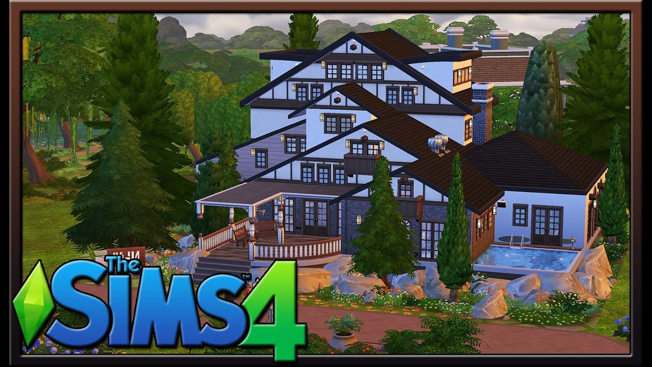Urban treehouse sims 4 houses - Sims 4 Lot Showcase Alpine Modern Pool Home By Digibun