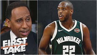 First Take | Stephen A. SURPRISED Buck def.Warriors 138-99: Khris Middleton scored 31 points