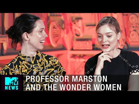 Behind the Polyamorous Love Scenes in 'Professor Marston And The Wonder Women' | MTV News