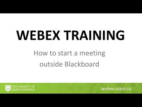 WebEx - Course Tools / Blackboard Help - ICT - University of