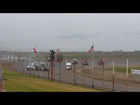 Cale Mack Crazy Save At Devils Lake Speedway