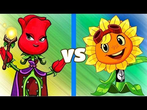 Plants vs Zombies Heroes Rose vs Solar Flare