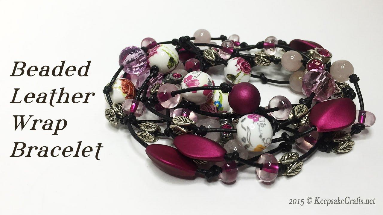 Beaded Leather Wrap Bracelet Tutorial