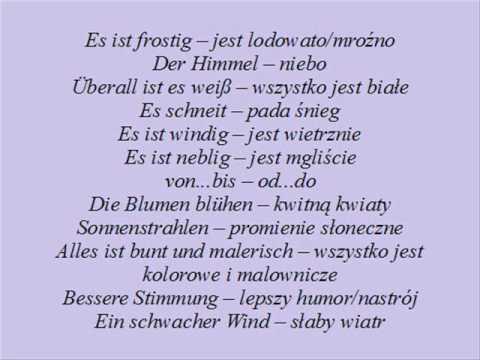Osłuchiwanie Się Z Niemieckim Vier Jahreszeiten 4 Pory Roku