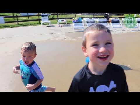 Giant Bucket of Water Dumps on Kids at Splash Pad