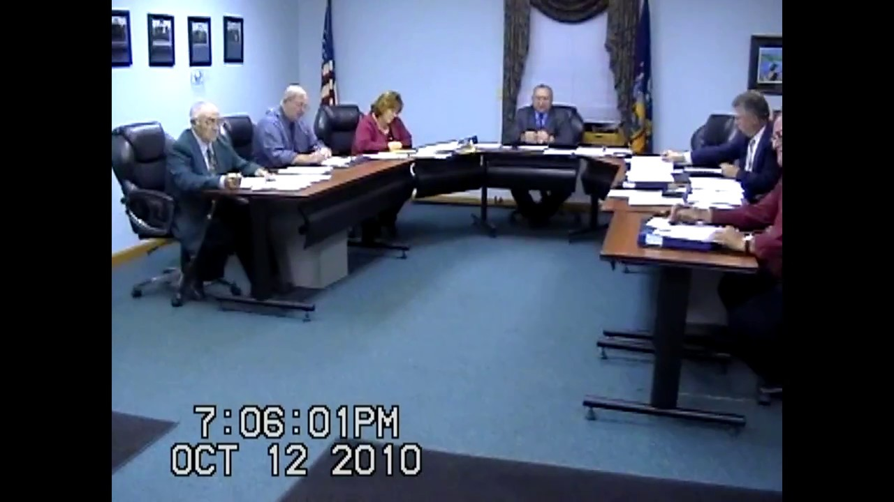 Champlain Town Board Meeting  10-12-10