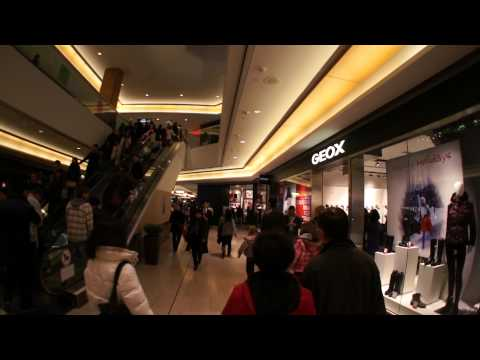 Vancouver Downtown At PACIFIC CENTRE Shopping Mall Video