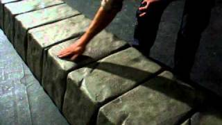 Styrofoam Sculpting: Finished faux rock column.
