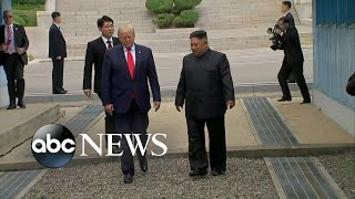 Trump meets Kim Jong Un at Korean DMZ