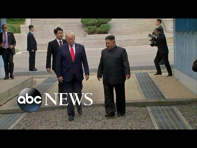 Trump meets Kim Jong Un at Korean DMZ
