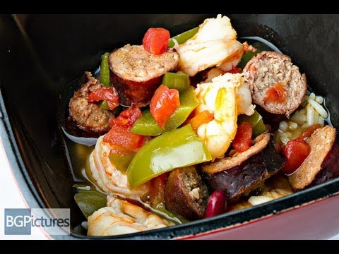 HLO Healthy Eating Recipe Smoked Turkey Sausage And Shrimp Cajun Stew Over Rice