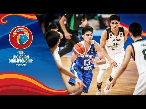 Japan v Philippines - Full Game - Quarter-Finals - FIBA U16 Asian Championship