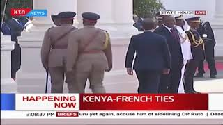 French President Emmanuel Macron Arrives in Kenya