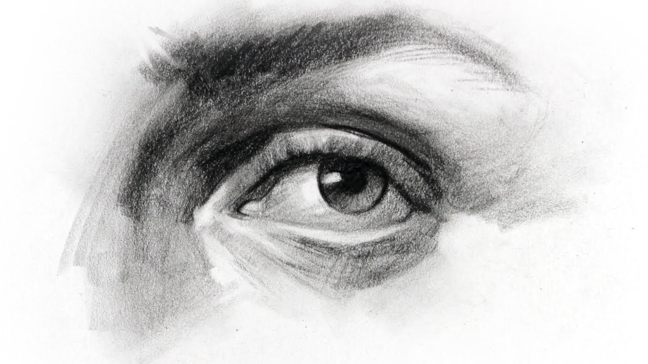 How To Draw Eyes Structure Youtube