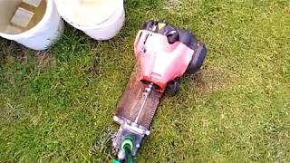 Jak zrobić motopompę z podkaszarki Homemade Waserrpumpe Motorsense water pump