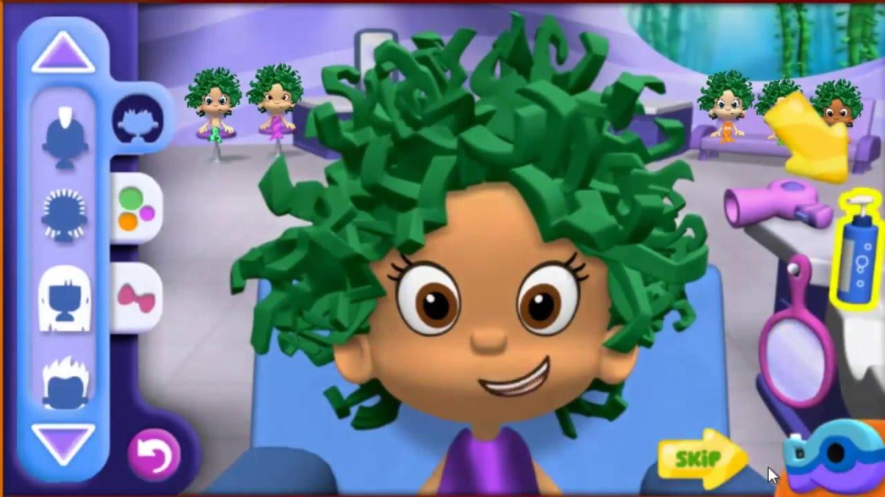 мультик игра Гуппи и пузырики веселые стрижки смотреть онлайн