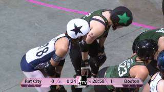 (3) Rat City Rollergirls v (6) Boston Derby Dames at 2013 WFTDA D1 Playoffs Salem