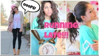 Running Late For School ⎜Quick Hair fixes, Makeup, & Outfit Ideas! Thumbnail