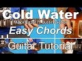 Cold Water - Major Lazer Justin Bieber & MØ | EASY CHORDS | Guitar Tutorial | Lesson + Tab