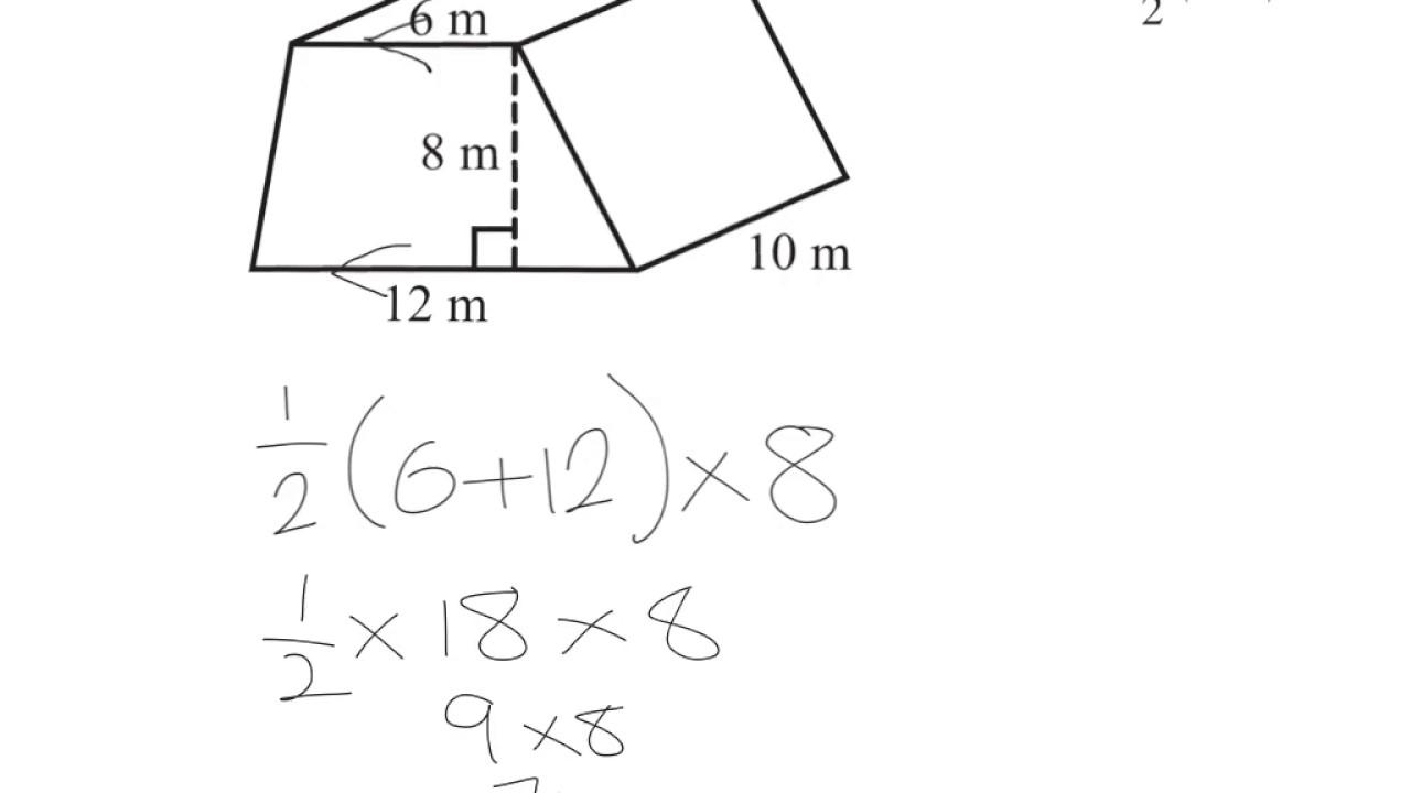 Volume Of A Trapezoidal Prism Youtube