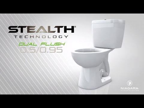 Stealth Toilet Dual Flush Technology - by Niagara Conservation - YouTube