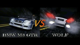Need For Speed Carbon BMW M3 GTR vs Wolf