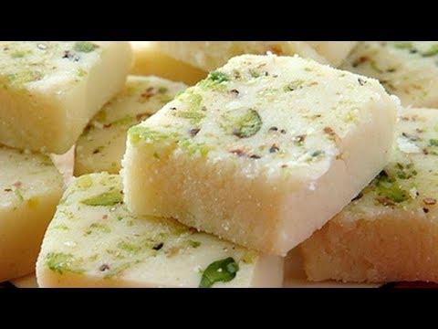 Besan Milk Cake Barfi Burfi Recipe In Tamil Easy