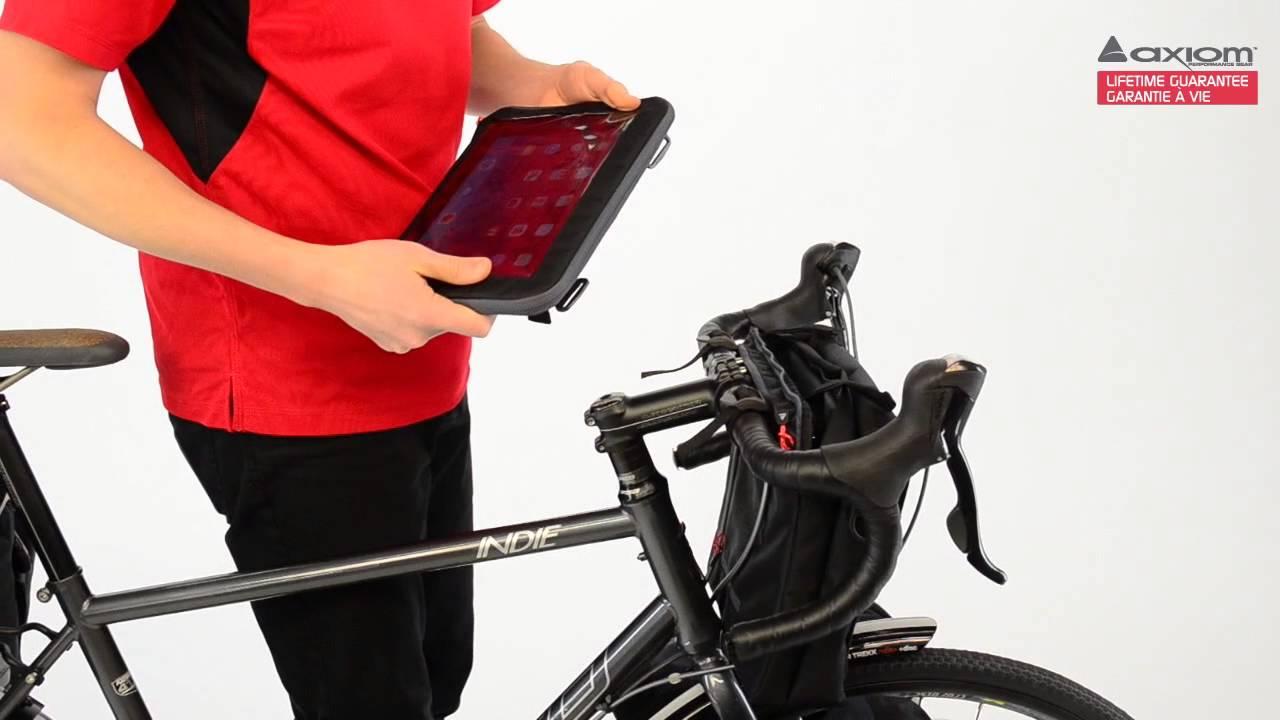 Axiom Itablet Bike Handlebar Bag Designed For Ipad Youtube Topeak Tourguide Dx