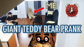 REAL LIFE GIANT TEDDY BEAR PRANK ON MOE SARGI | OVERNIGHT CHALLENGE DISGUISED AS A GIANT TEDDY BEAR
