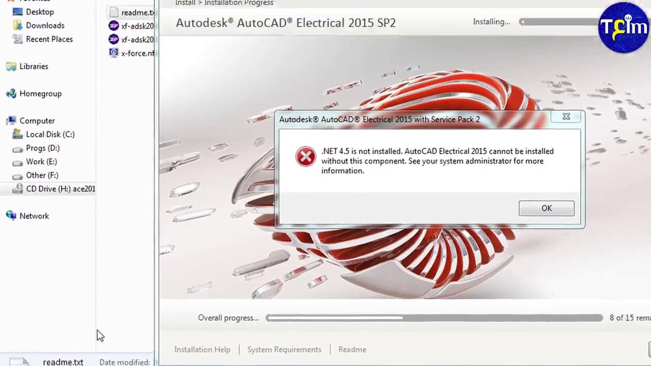 How to Solve Net framworker error in AutoCAD setup