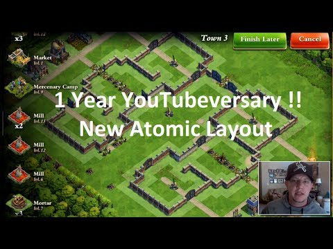 DomiNations - 1 Year YouTubeversary!! - Alliance XP - New Atomic Layout